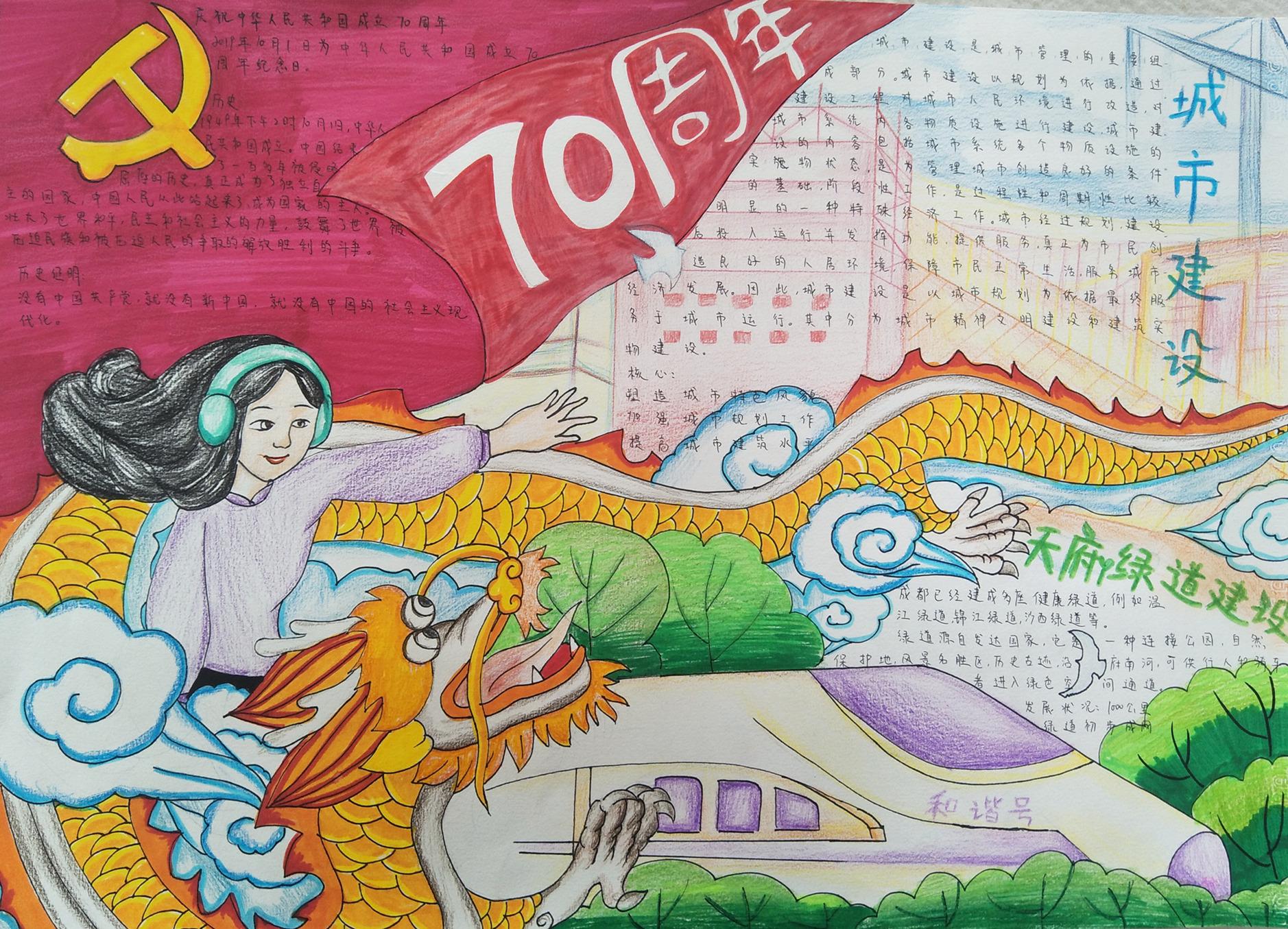 青羊区-树德实验中学清波校区九年级23班-李晨希《庆祝祖国70周年华诞》